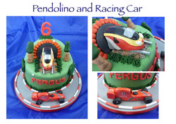 Pendolino and Racing Car Cake