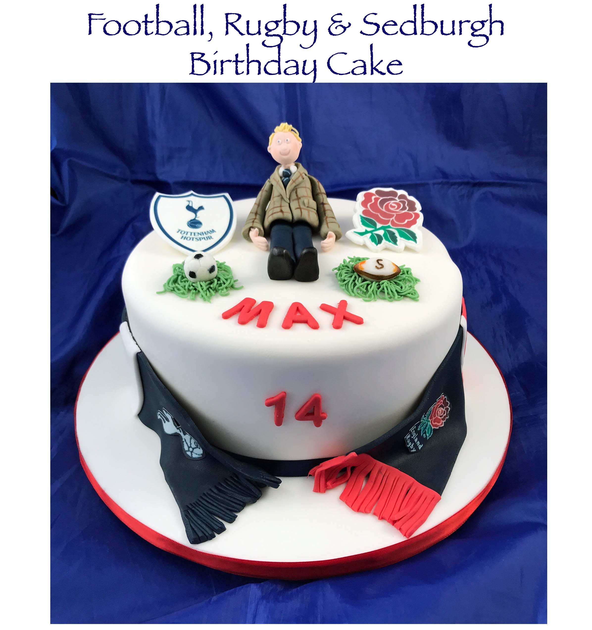 Football, Rugby & Sedburgh Birthday Cake