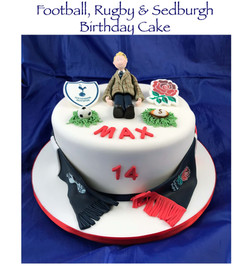 Football, Rugby & Sedburgh Birthday Cake