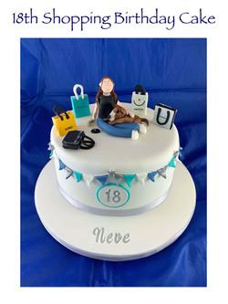 18th Shopping Birthday Cake