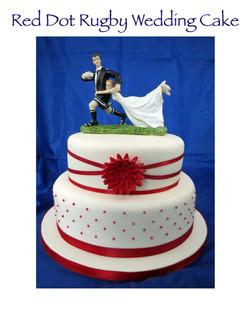 Red Dot Wedding Cake