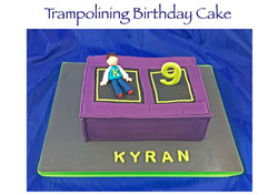 Trampolining Birthday Cake