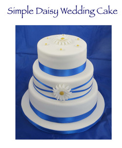 Simple Daisy Wedding Cake