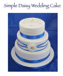 Simple Daisy Wedding Cake
