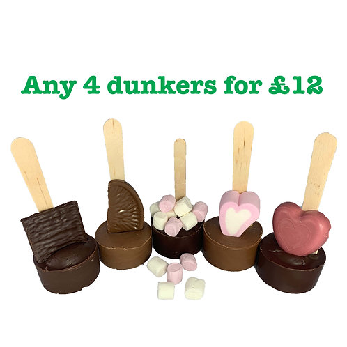 4 Dunkers for £12: Choose any 4 dunkers for the special price of £12