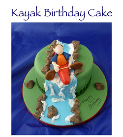 Kayak River Birthday Cake