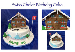 Swiss Chalet Birthday Cake