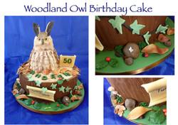 Woodland Owl Birthday Cake