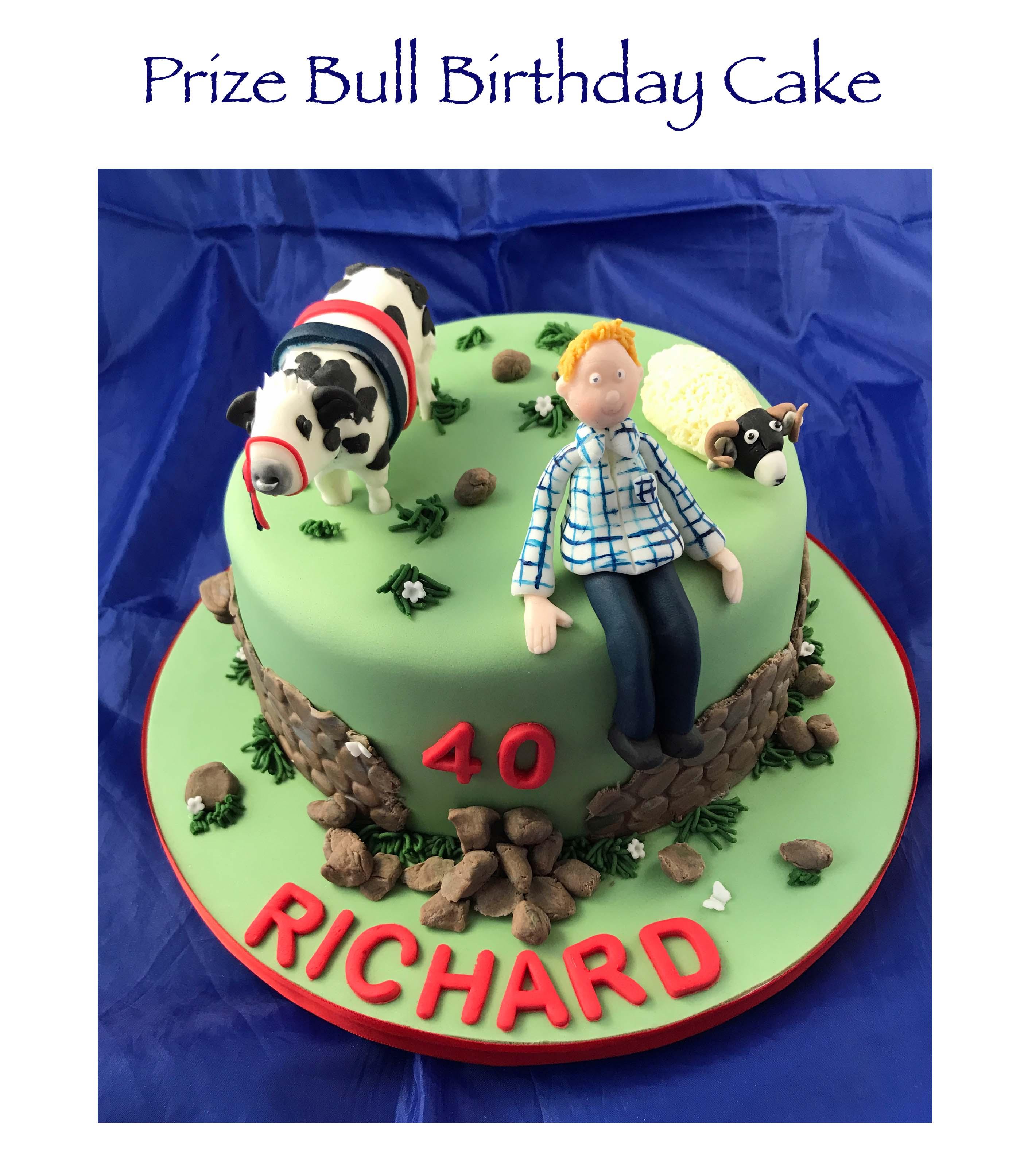 Prize Bull Birthday Cake