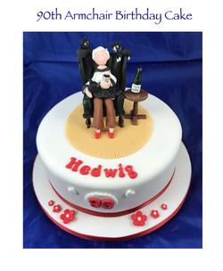90th Armchair Birthday Cake