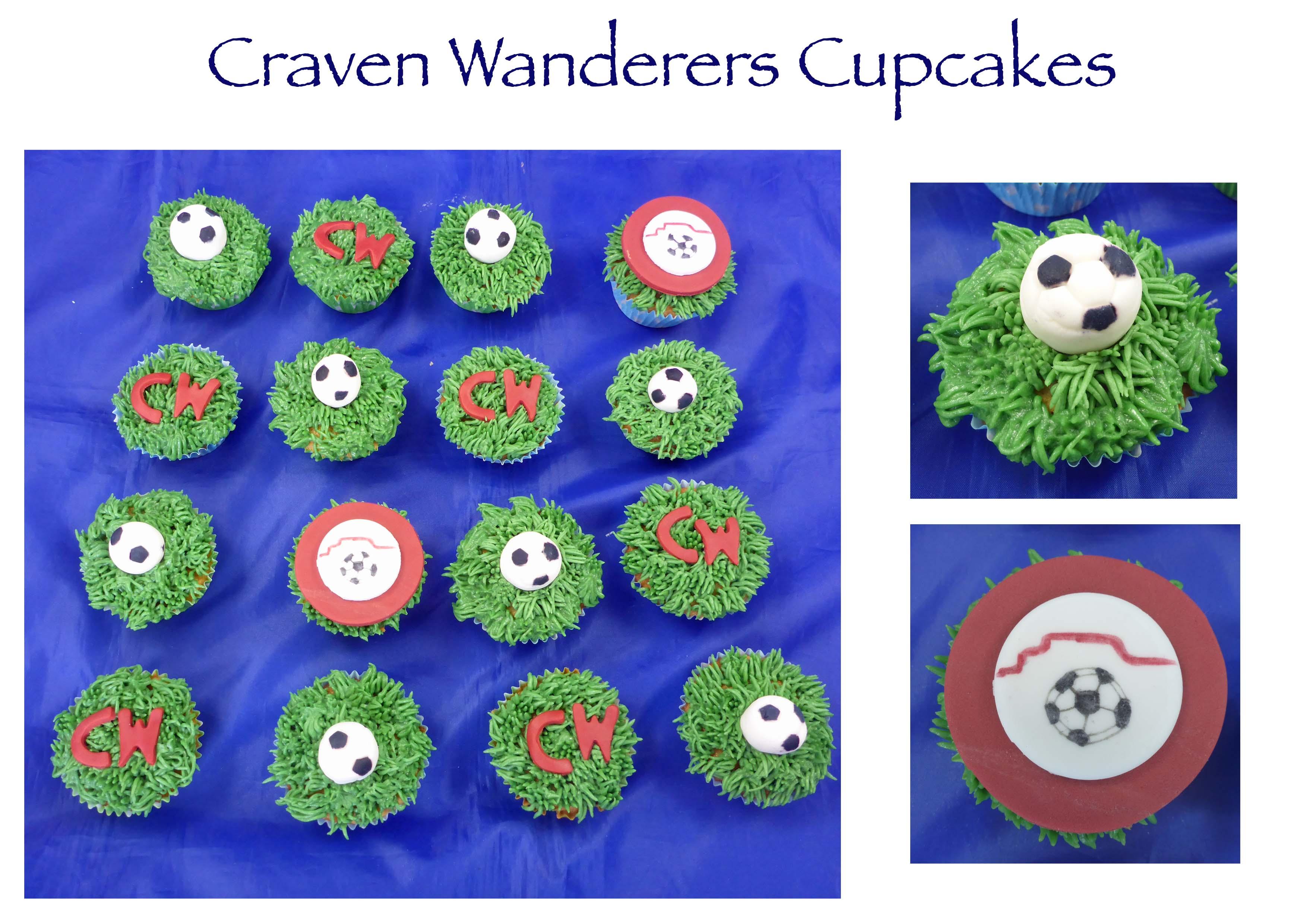 Craven Wanderers Cupcakes