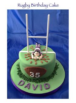 Rugby Birthday Cake (David)