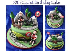 50th Cyclist Birthday Cake