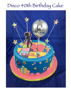 Disco 40th Birthday Cake