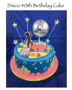 Disco 40th Birthday Cake