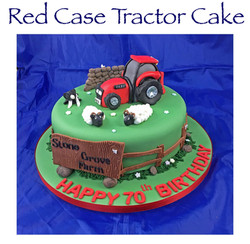 Red Case Tractor Cake