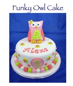 Funky Owl Cake