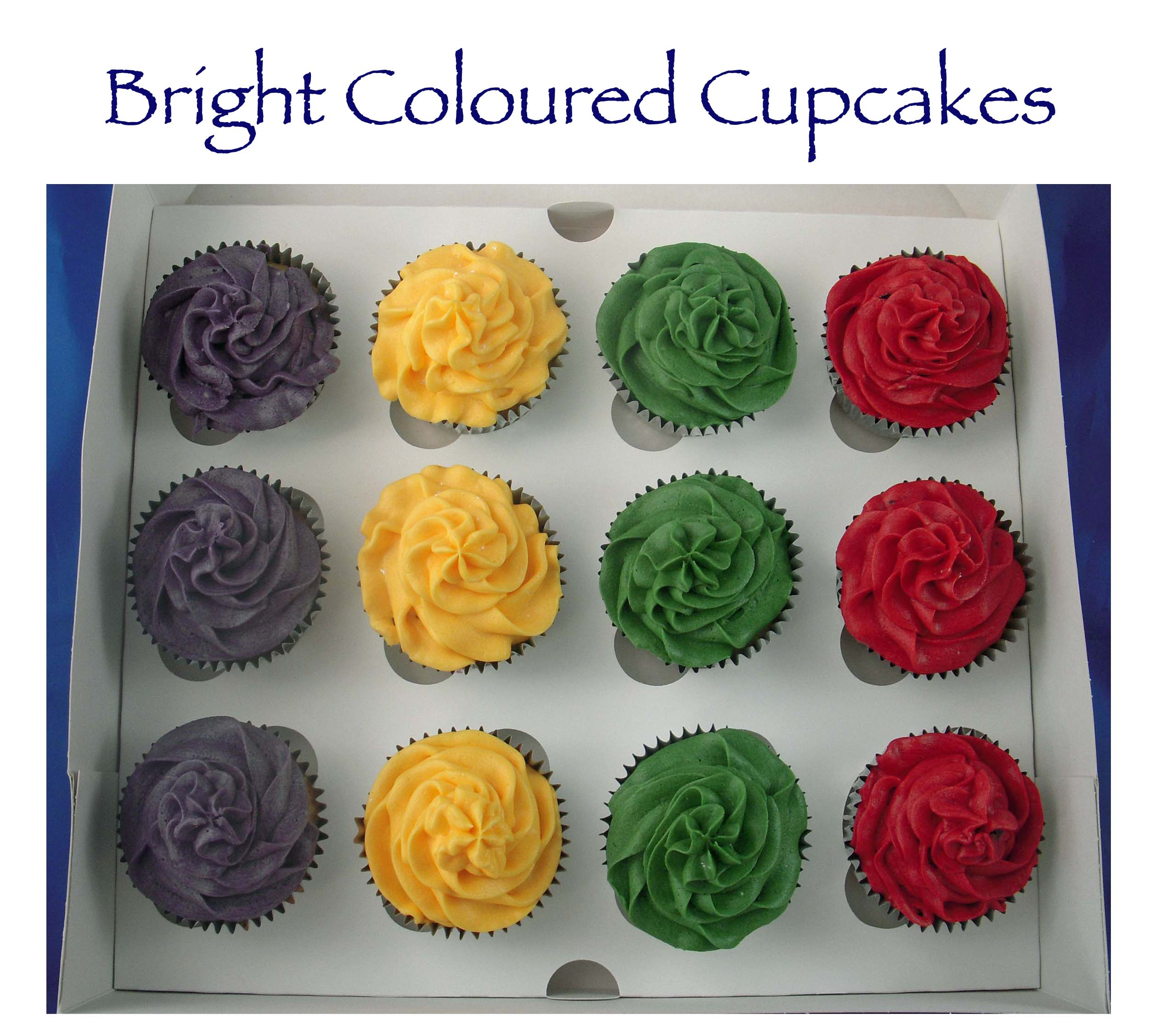 Dora the Explorer brightly coloured cupcakes