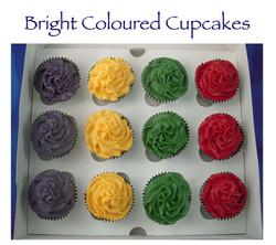 Dora the Explorer brightly coloured cupcakes