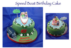 Speed Boat Birthday Cake