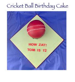Cricket Ball Birthday Cake