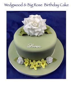 Wedgwood & Big Rose Cake