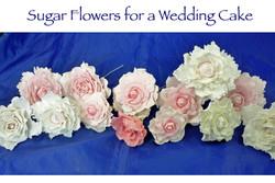Sugar Flowers for a Wedding Cake