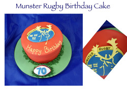 Munster Rugby Birthday Cake