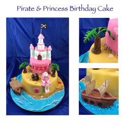 Pirate and Princess Birthday Cake