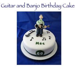 Guitar and Banjo Birthday Cake