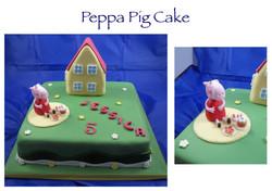 Peppa Pig and House Cake