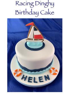 Racing Dinghy Birthday Cake