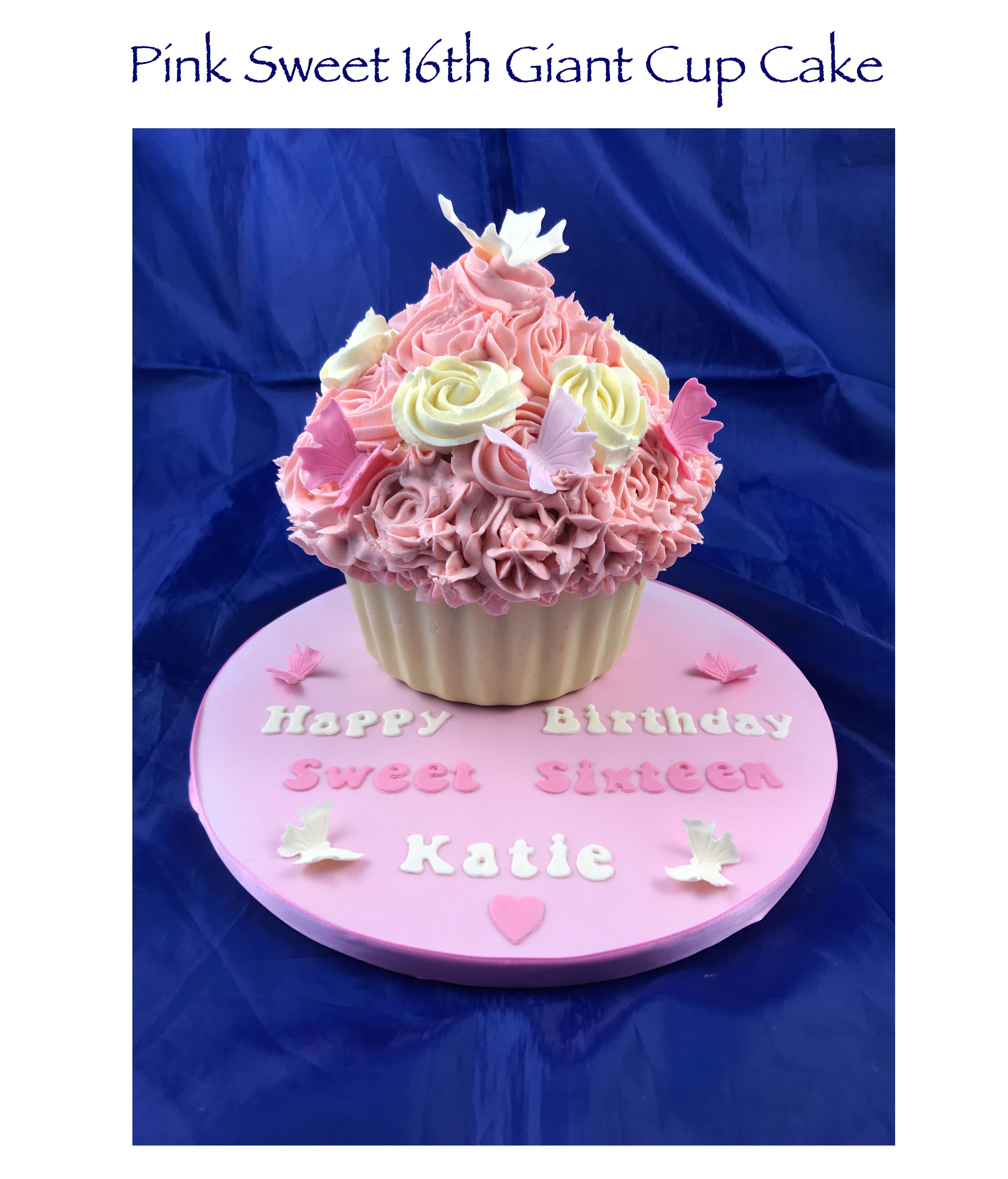 Pink Sweet Sixteenth Giant Cupcake