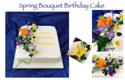 Spring Bouquet Birthday Cake