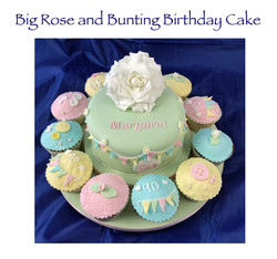 Big Rose and Bunting Birthday Cake_edite