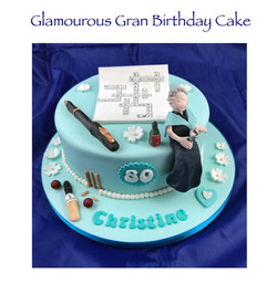 Glamourous Gran Birthday Cake