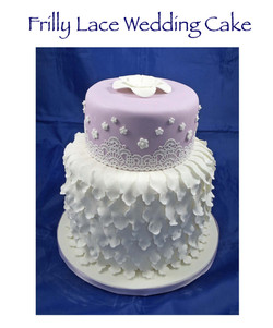 Frilly Lace Wedding Cake