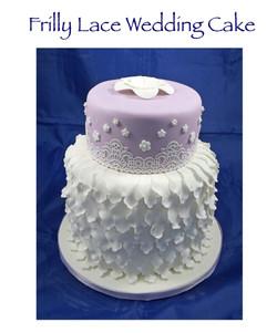 Frilly Lace Wedding Cake