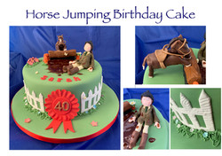 Horse Jumping Birthday Cake
