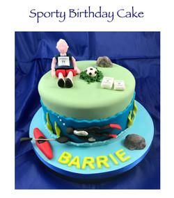 Sporty Birthday Cake