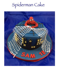 Spiderman Cake (with webbing)