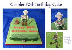 Rambler 60th Birthday Cake