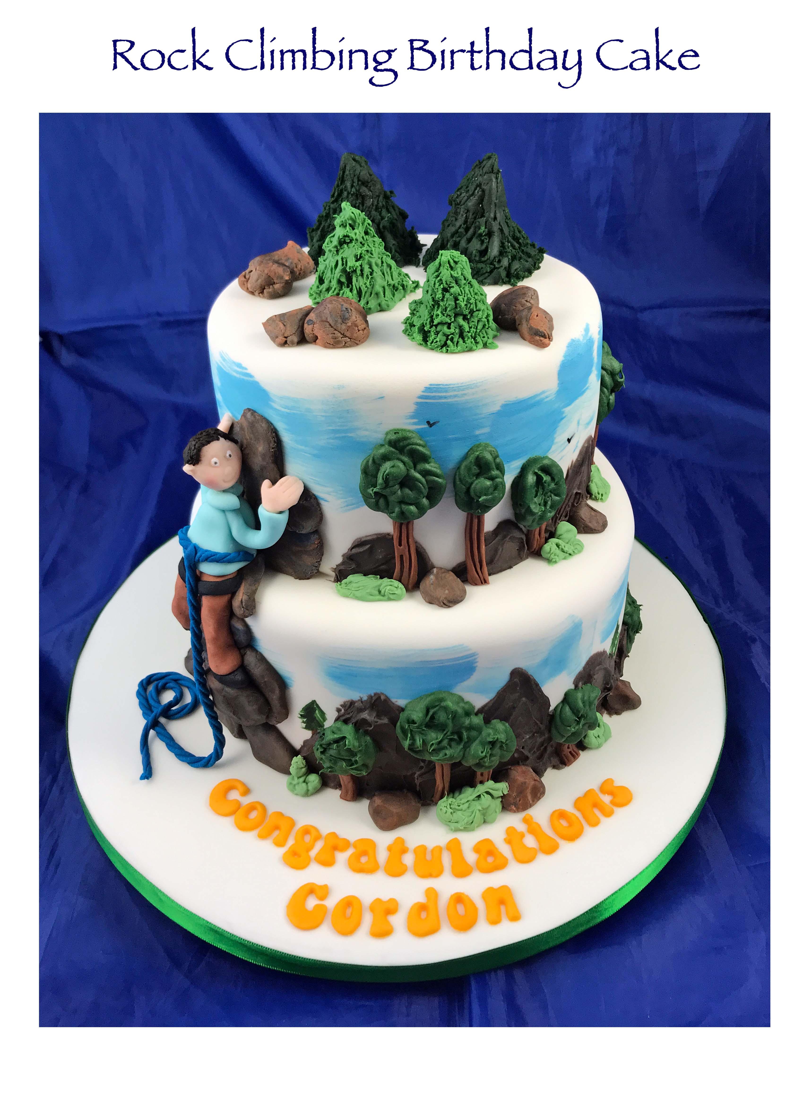 100th Rock Climbing Cake