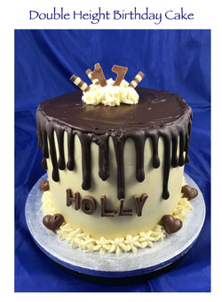 Double Height Chocolate Drip Cake