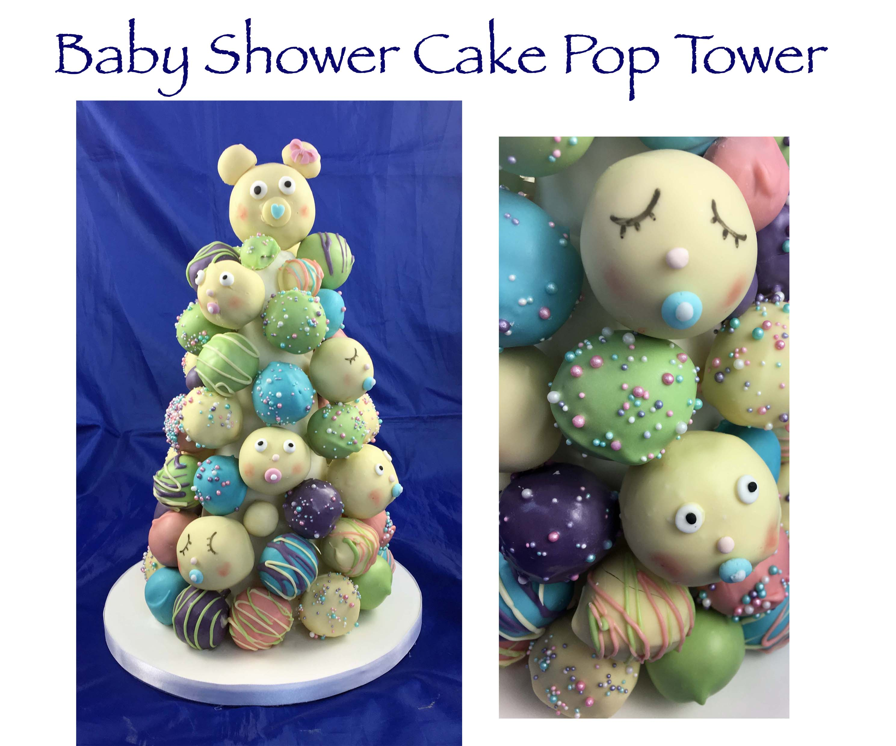 Baby Shower Cake Pop Tower