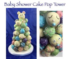 Baby Shower Cake Pop Tower