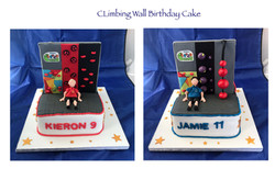 Climbing Wall Birthday Cake