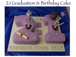 21 Graduation & Birthday Cake