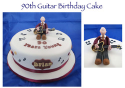 90th Birthday Guitar Cake