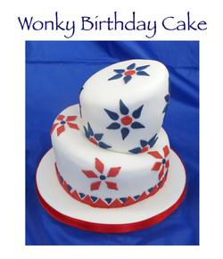 Wonky Birthday Cake
